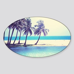 Tropical Beach Sticker