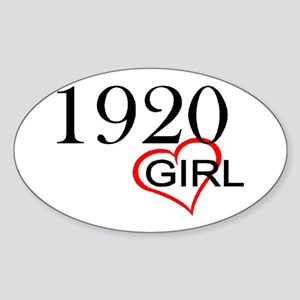 1920 Oval Sticker