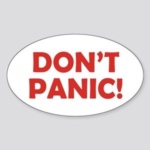Don't Panic! Sticker (Oval)