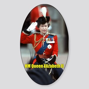 HM Queen Elizabeth II Trooping Sticker
