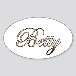 Gold Betty Sticker