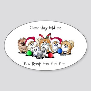 Christmas Pommies Sticker (Oval)