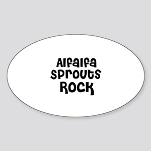 Alfalfa Sprouts Rock Oval Sticker