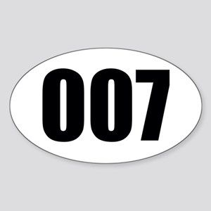 007 Sticker (Oval)