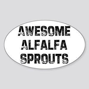 Awesome Alfalfa Sprouts Oval Sticker