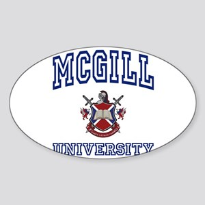 MCGILL University Oval Sticker