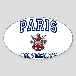 PARIS University Oval Sticker