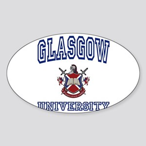 GLASGOW University Oval Sticker