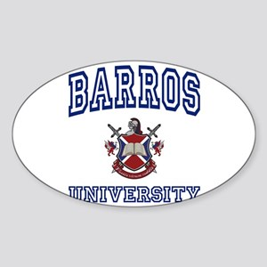 BARROS University Oval Sticker