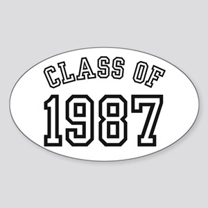 Class of 1987 Oval Sticker