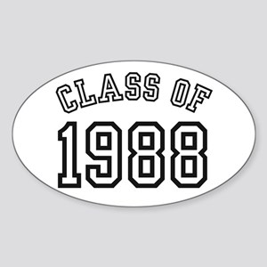 Class of 1988 Oval Sticker
