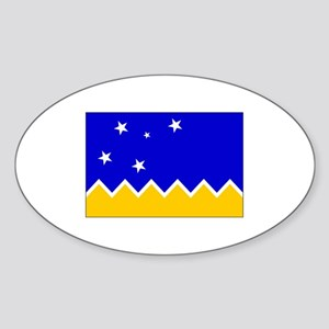 Magallanes Chile Flag Oval Sticker