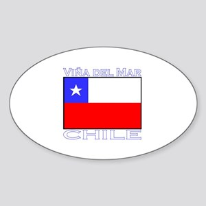 Vina del Mar, Chile Oval Sticker