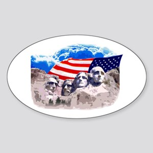 Mount Rushmore Oval Sticker