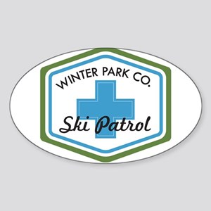 Winter Park Ski Patrol Patch Sticker (Oval)