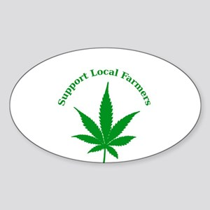 Support Local Farmers Sticker (Oval)
