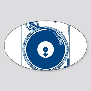 Male Turntable Sticker (Oval)