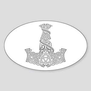 Mjolnir Silver Sticker (Oval)