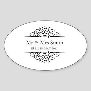 304658cedee9 Wedding Oval Stickers - CafePress