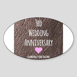 Third Wedding Anniversary.3rd Wedding Anniversary Stickers Cafepress