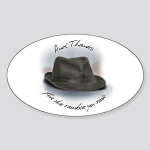 Hat for Leonard 1 Sticker (Oval)