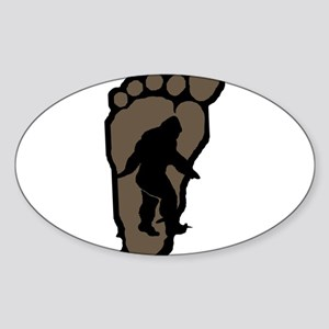 Bigfoot print b2 Sticker (Oval)