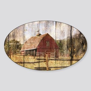 western country red barn Sticker