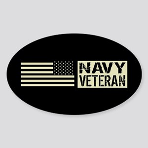 U.S. Navy: Veteran (Black Flag) Sticker
