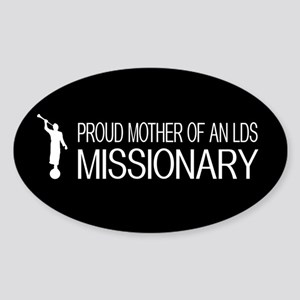 LDS: Proud Missionary Mother (Black) Sticker