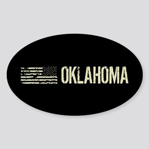 Black Flag: Oklahoma Sticker (Oval)