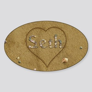 Seth Beach Love Sticker (Oval)