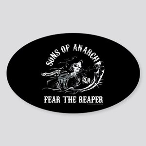 SOA Reaper Gun Sticker (Oval)