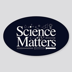 Science Matters Sticker (Oval)