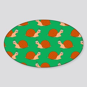 Cute Garden Snail Pattern Sticker