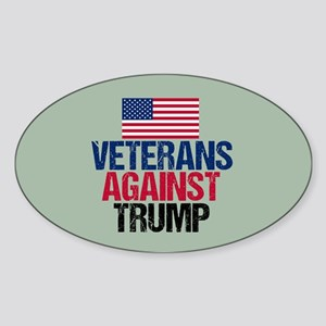 Veterans Against Trump Sticker (Oval)