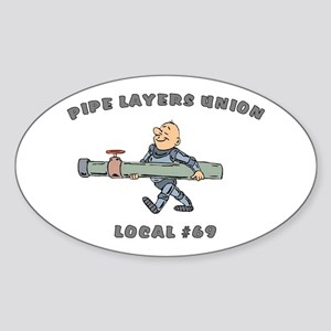 Pipe Layers Union Oval Sticker
