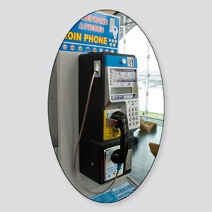 Telephone in airport lounge Sticker (Oval)