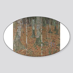 Birch Forest Sticker (Oval)