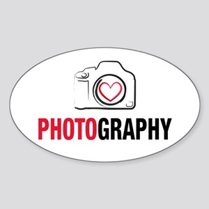 Love Photography Sticker (Oval)