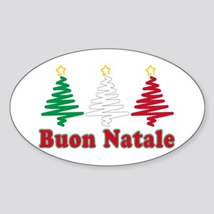 Stickers Natale.Buon Natale Oval Stickers Cafepress