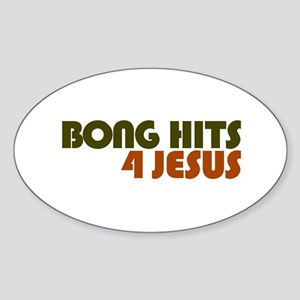 Bong Hits 4 Jesus Oval Sticker