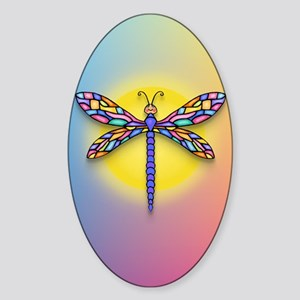 Dragonfly1 - Sun Sticker (Oval)