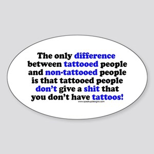 Tattooed People Difference V2 Oval Sticker