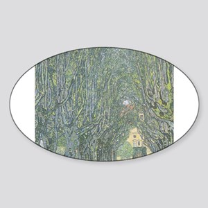 Avenue of Trees Sticker (Oval)