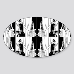 1920s flapper 2 Sticker (Oval)
