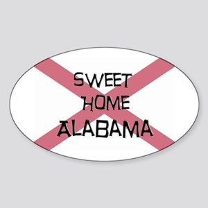 Sweet Home Alabama Oval Sticker