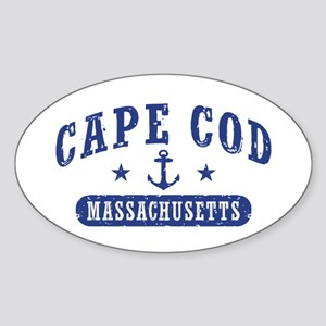 Cape Cod Massachusetts Sticker (Oval)