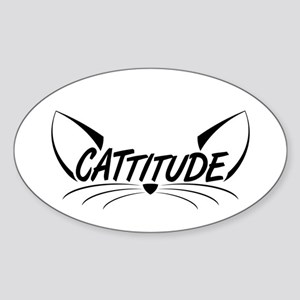 Cattitude-Eyes-Black Sticker