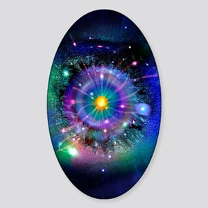 Space-time gateway Sticker (Oval)