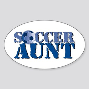 Soccer Aunt Sticker (Oval)